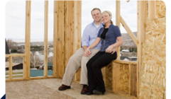 Happy couple at construction site - linking to Starting Out/New Professional page